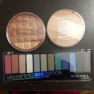 Rimmel London 3 piece bundle of makeup NWT